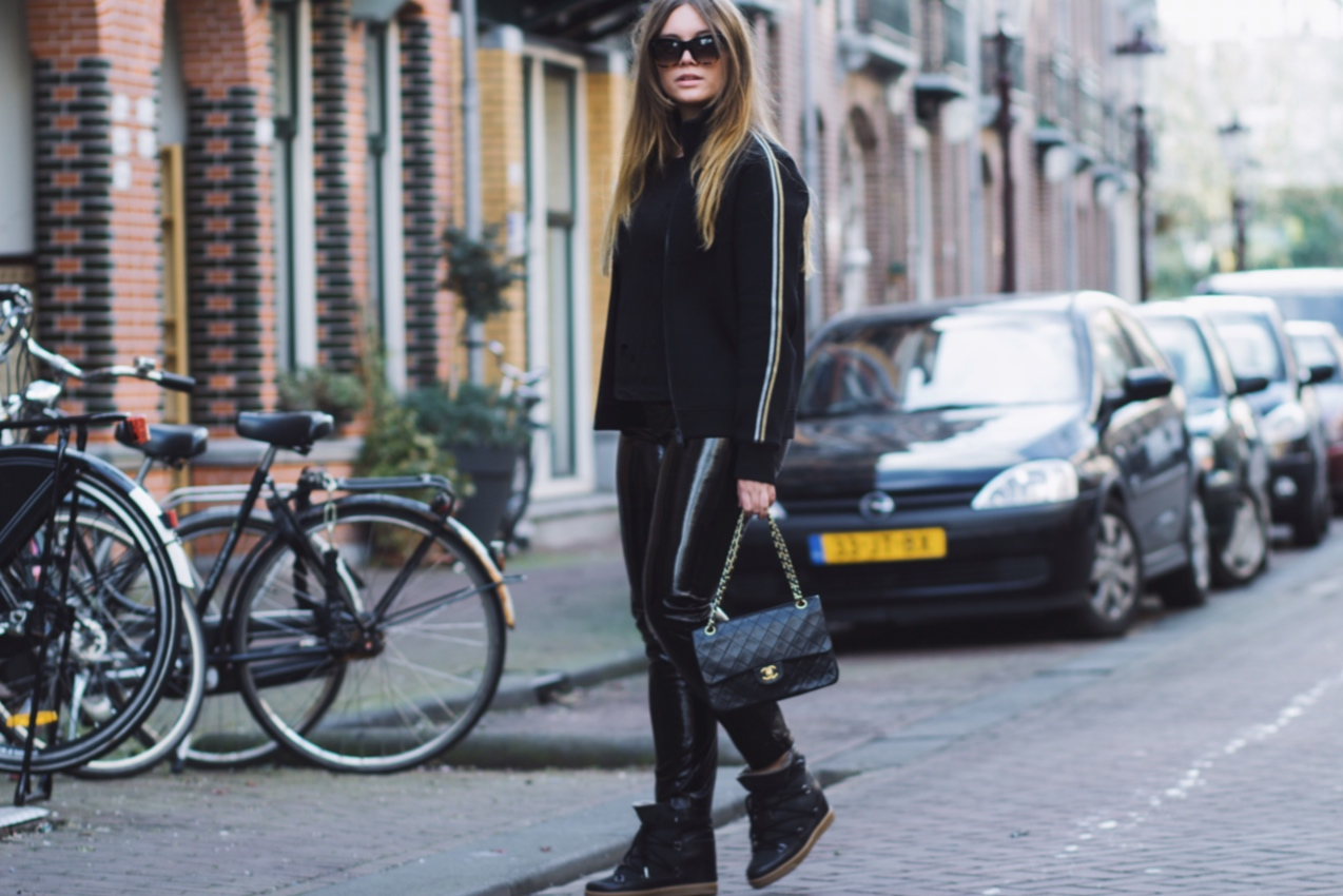 blogger, blog, dominique, candido, fashion, outfit, post, chanel, celine, patent, leather, zadig&voltaire,